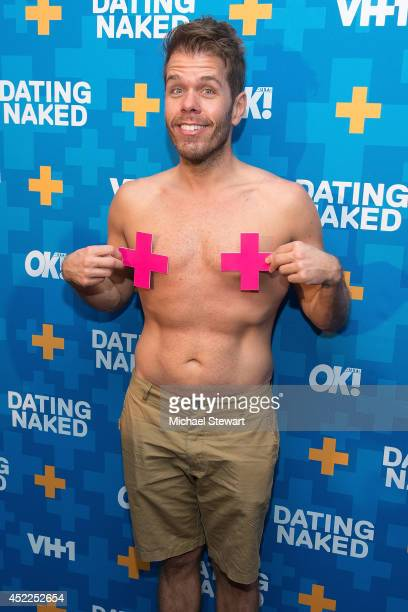 TV personality Perez Hilton attends the 'Dating Naked' series premiere at Gansevoort Park Avenue on July 16 2014 in New York City