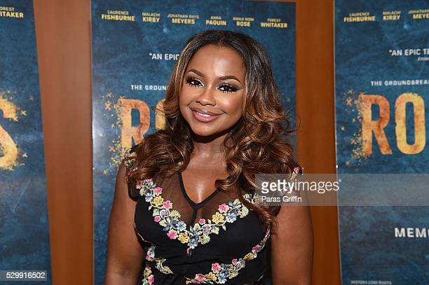 TV personality Phaedra Parks attends HISTORY's Roots Atlanta advanced screening at National Center for Civil and Human Rights on May 9 2016 in...