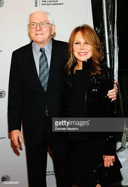 TV personality Phil Donahue and actress Marlo Thomas attend the All About Ann Governor Richards of the Lone Star State screening during the 2014...