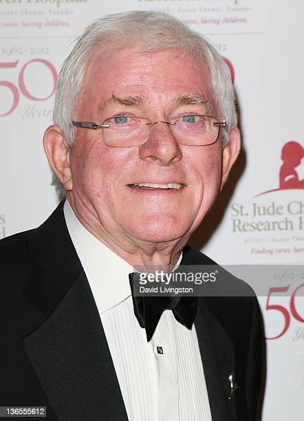 TV personality Phil Donahue attends the 50th anniversary celebration for St Jude Children's Research Hospital at The Beverly Hilton hotel on January...