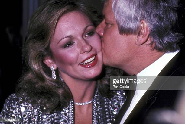 TV personality Phyllis George and Governor John Y Brown Jr attend the Taps Premiere Party on December 7 1981 at New York Hilton Hotel in New York City