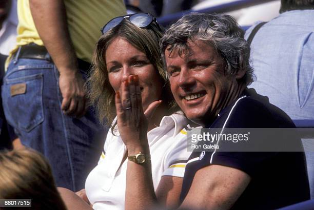 TV personality Phyllis George and Governor John Y Brown Jr attend the Eighth Annual Robert F Kennedy ProCelebrity Tennis Tournament on August 25 1979...