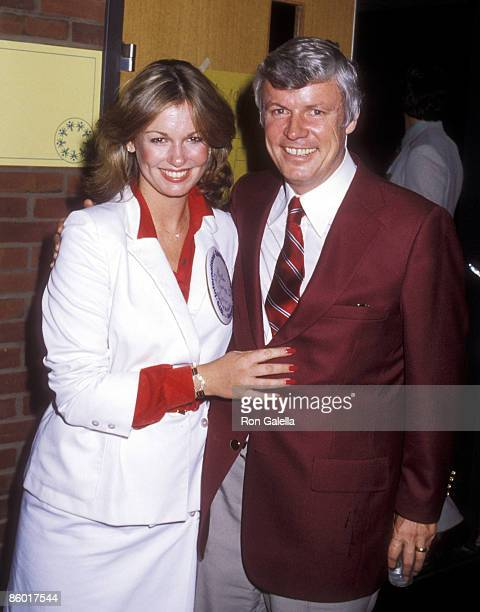 TV personality Phyllis George and Governor John Y Brown Jr attend the 1979 International Special Olympics Summer Games on August 9 1979 at The State...