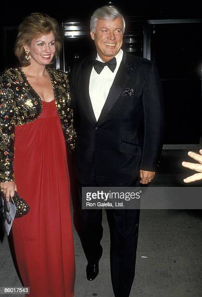 TV personality Phyllis George and politician John Y Brown Jr attend the Audrey Hepburn's Film Retrospective and Tribute Gala on October 21 1987 at...