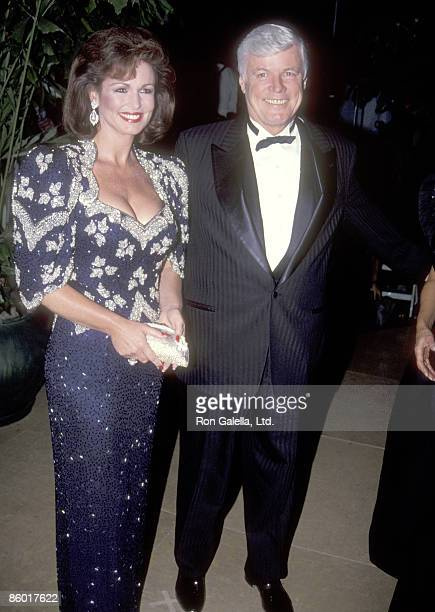 TV personality Phyllis George and politician John Y Brown Jr attend the 1992 Carousel of Hope Ball to Benefit The Barbara Davis Center for Childhood...