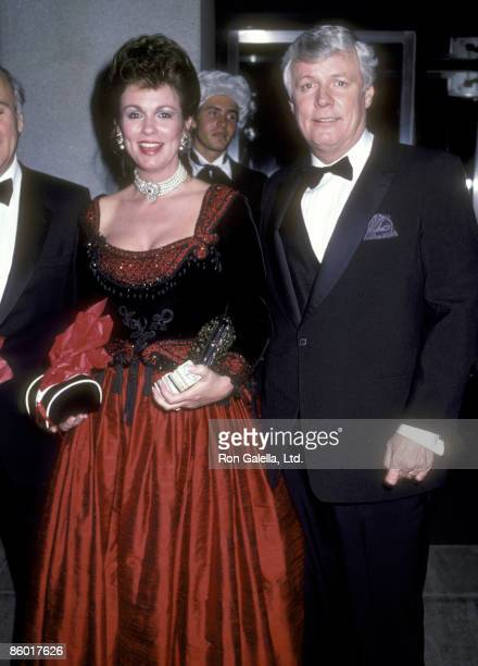 TV personality Phyllis George and politician John Y Brown Jr attend The Vienna Ball to Celebrate the Opening of the Viennese TurnoftheCentury Art...