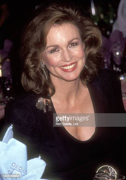 TV personality Phyllis George attends the Literacy Volunteers of New York City's Third Annual Wild West Hoedown Benefit on December 3 1991 at St...