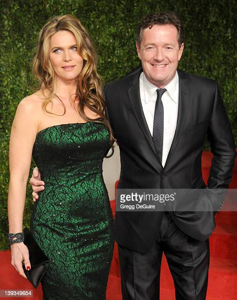 Personality Piers Morgan and Celia Walden arrive at the Vanity Fair Oscar Party 2011, February 27, 2011 at the Sunset Tower Hotel in West Hollywood,...