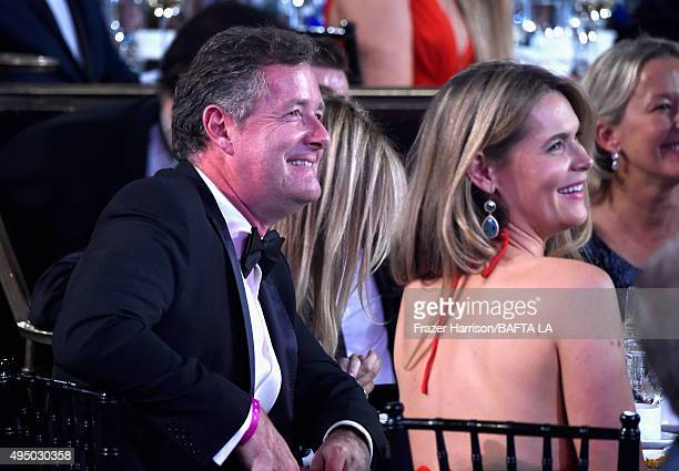 Personality Piers Morgan and journalist Celia Walden attend the 2015 Jaguar Land Rover British Academy Britannia Awards presented by American...
