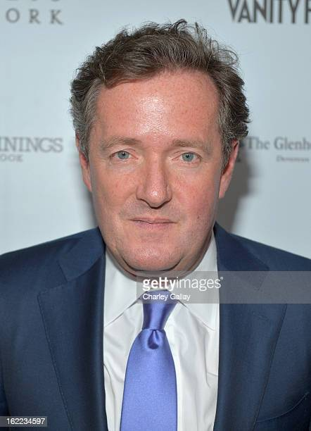 "Personality Piers Morgan attends the Vanity Fair, Barneys New York and The Weinstein Company celebration of ""Silver Linings Playbook"" in support of..."