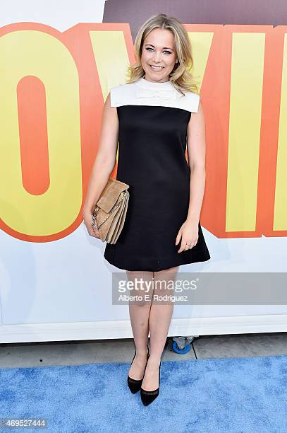 TV personality Poppy Jamie attends The 2015 MTV Movie Awards at Nokia Theatre LA Live on April 12 2015 in Los Angeles California