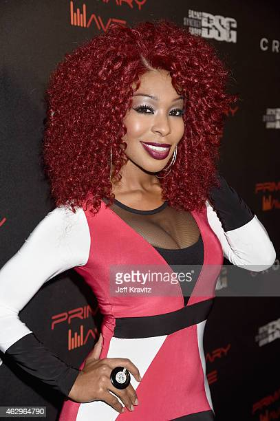 TV personality Porscha Coleman attends the Primary Wave 9th Annual PreGrammy Party at RivaBella on February 7 2015 in West Hollywood California