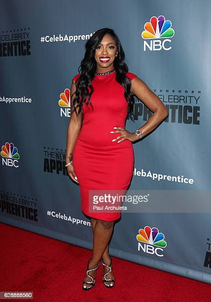 Personality Porsha Williams attends the QA for NBC's The New Celebrity Apprentice at NBC Universal Lot on December 9 2016 in Universal City California