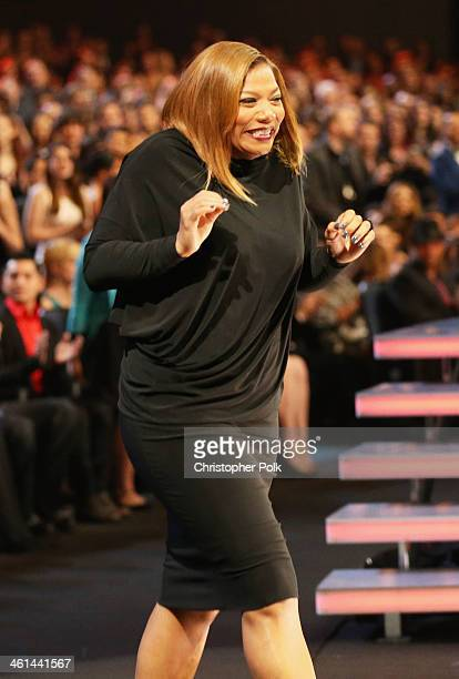 TV personality Queen Latifah accepts the Favorite New Talk Show Host award onstage at The 40th Annual People's Choice Awards at Nokia Theatre LA Live...