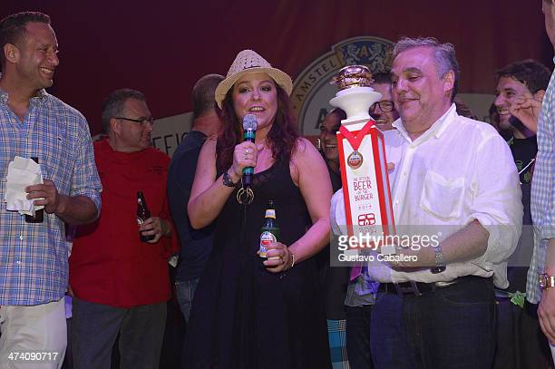 Personality Rachael Ray and Founder Director of Food Network South Beach Wine Food Festival Lee Brian Schrager attend Amstel Light Burger Bash...