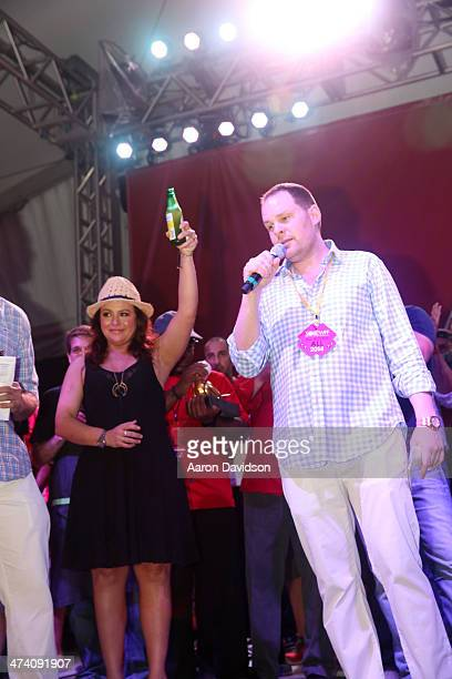 Personality Rachael Ray and Pat LaFrieda attend Amstel Light Burger Bash presented by Pat LaFrieda Meats hosted by Rachael Ray during the Food...
