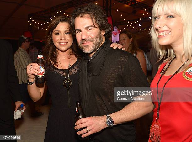 Personality Rachael Ray and Producer John M Cusimano attend Amstel Light Burger Bash presented by Pat LaFrieda Meats hosted by Rachael Ray during the...