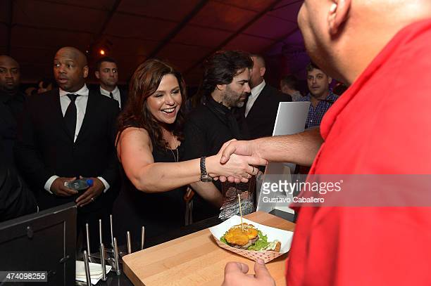Personality Rachael Ray attends Amstel Light Burger Bash presented by Pat LaFrieda Meats hosted by Rachael Ray during the Food Network South Beach...