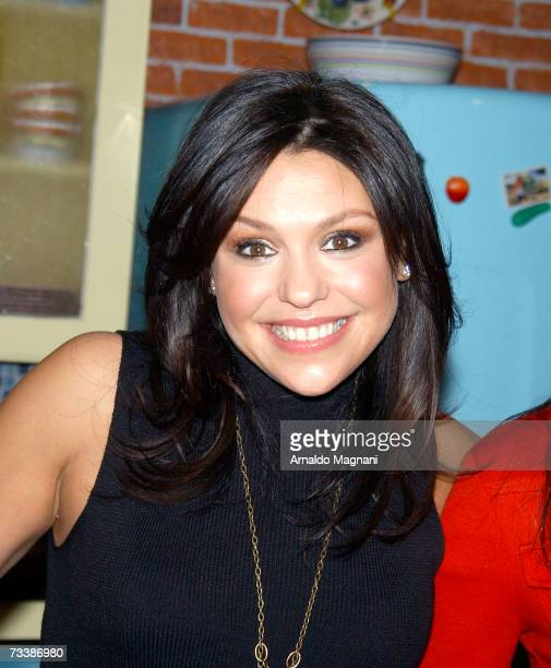 TV Personality Rachael Ray unveils her wax figure at Madame Tussauds wax museum in Times square on February 21 2007 in New York City