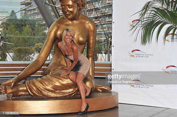 Personality Rachel Bourlier poses during a photocall at the Grimaldi Forum on June 8 2011 in Monaco Monaco