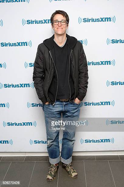 TV personality Rachel Maddow visits the SiriusXM Studios on April 29 2016 in New York New York