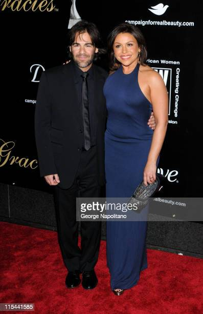 TV personality Rachel Ray and John Cusimano attend the 2009 Gracie Awards Gala at The New York Marriott Marquis on June 3 2009 in New York City