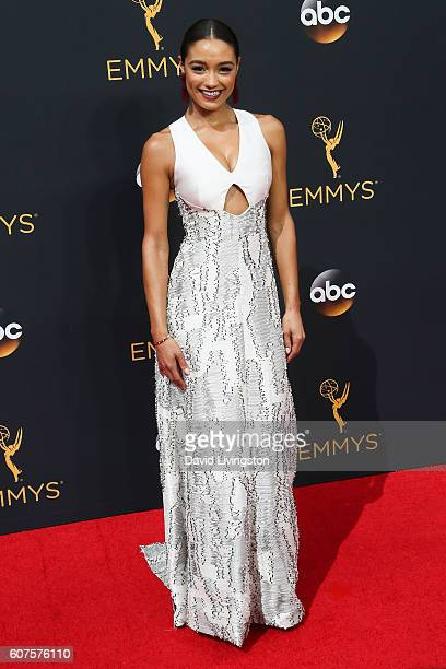 TV personality Rachel Smith arrives at the 68th Annual Primetime Emmy Awards at the Microsoft Theater on September 18 2016 in Los Angeles California