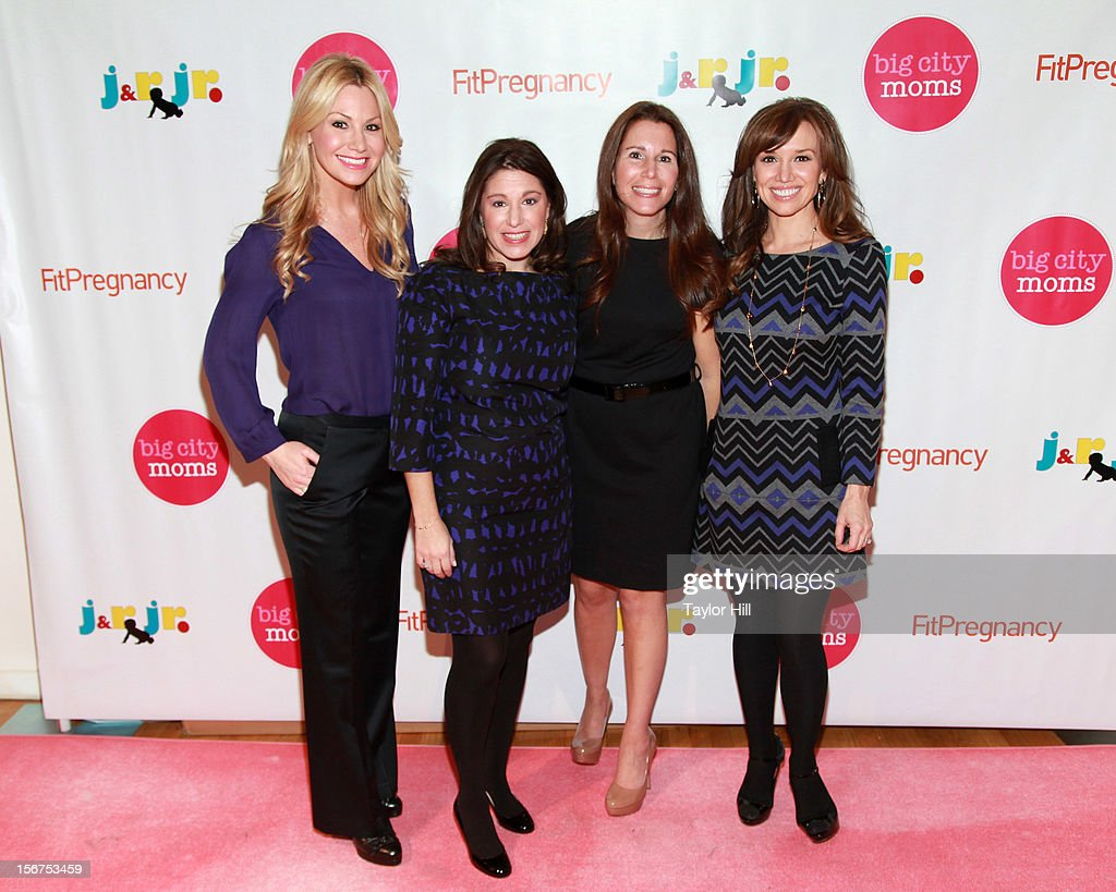 TV personality Raina Seitel, Big City Moms co-founders Leslie Venokur and Risa Goldberg, and TV personality Sara Gore attend the Big City Moms 14th Biggest Baby Shower at the Metropolitan Pavilion on November 19, 2012 in New York City.