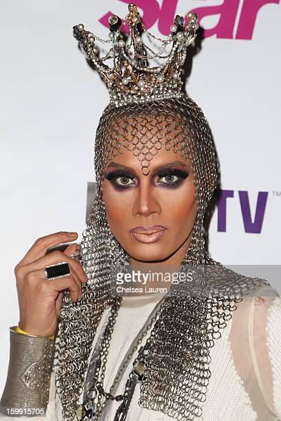TV personality Raja Gemini arrives at 'RuPaul's Drag Race' season 5 premiere party at The Abbey on January 22 2013 in West Hollywood California