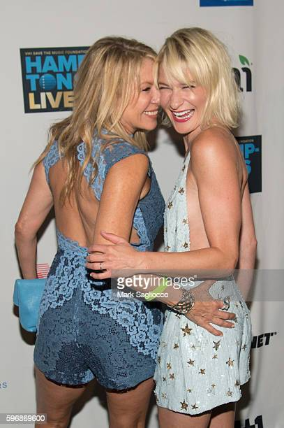 Personality Ramona Singer and CoHost Julie Macklowe attend VH1 Save The Music Hamptons Live 2016 on August 27 2016 in Sagaponack New York