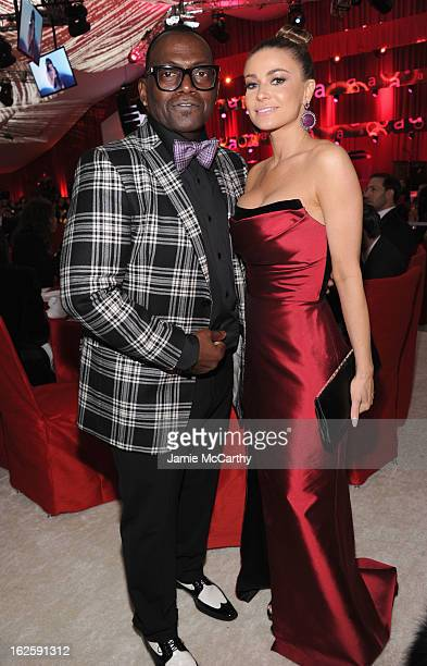 TV Personality Randy Jackson and model Carmen Electra attend the 21st Annual Elton John AIDS Foundation Academy Awards Viewing Party at West...