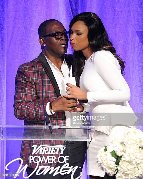 TV personality Randy Jackson presents honoree Jennifer Hudson with the Samsung Impact Award onstage during Variety's 5th Annual Power of Women event...