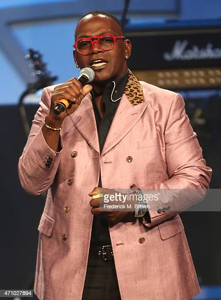 Personality Randy Jackson speaks onstage during the 22nd Annual Race To Erase MS Event at the Hyatt Regency Century Plaza on April 24, 2015 in...