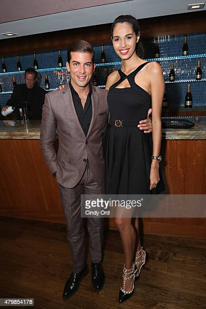 TV personality/ real estate broker Luis D Ortiz and Keyshia Maisonet attend the HBO Latino El Negocio Private Dinner on July 7 2015 in New York City