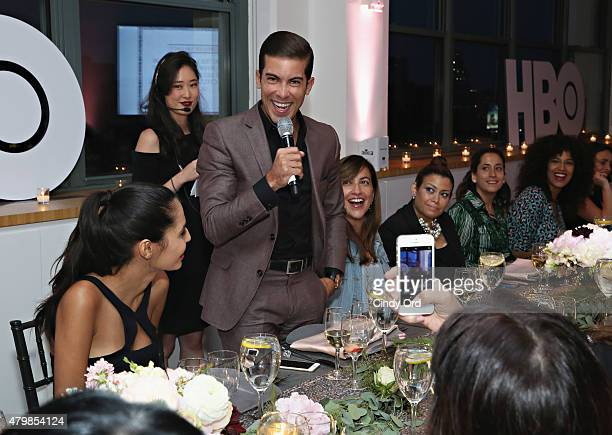 TV personality/ real estate broker Luis D Ortiz attends the HBO Latino El Negocio Private Dinner on July 7 2015 in New York City