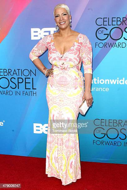 TV personality Rebecca Crews attends the BET's 2014 Celebration Of Gospel Event held at the Orpheum Theatre on March 15 2014 in Los Angeles California