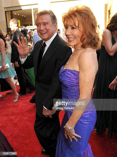 TV personality Regis Philbin and Joy Philbin arrive at the 35th Annual Daytime Emmy Awards at the Kodak Theatre on June 20 2008 in Los Angeles...
