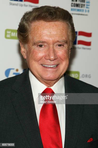 Personality Regis Philbin attends the 2008 Stand Up For Heroes: A Benefit for the Bob Woodruff Foundation at Town Hall on November 5, 2008 in New...
