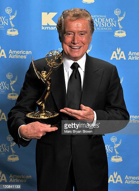 TV personality Regis Philbin poses for his portrait during the 35th Annual Daytime Emmy Awards at the Kodak Theatre on June 20 2008 in Los Angeles...
