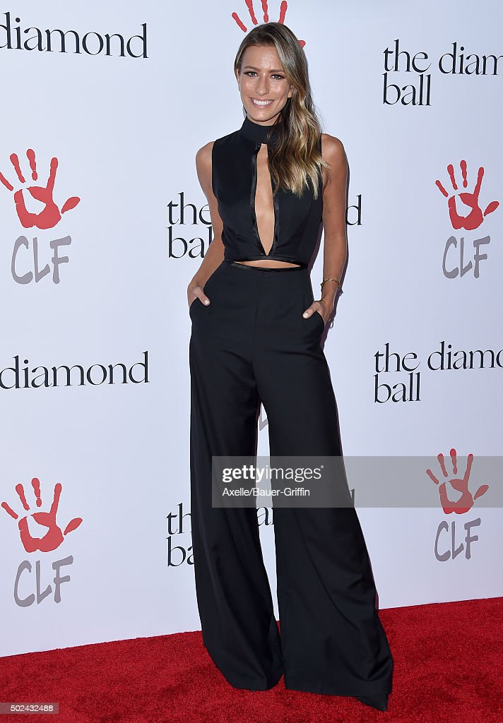 TV personality Renee Bargh arrives at Rihanna and The Clara Lionel Foundation Host 2nd Annual Diamond Ball at The Barker Hanger on December 10, 2015 in Santa Monica, California.