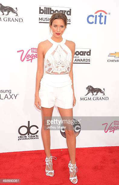 TV personality Renee Bargh arrives at the 2014 Billboard Music Awards at the MGM Grand Garden Arena on May 18 2014 in Las Vegas Nevada