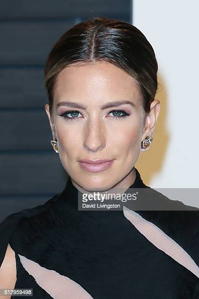 Personality Renee Bargh arrives at the 2016 Vanity Fair Oscar Party Hosted by Graydon Carter at the Wallis Annenberg Center for the Performing Arts...