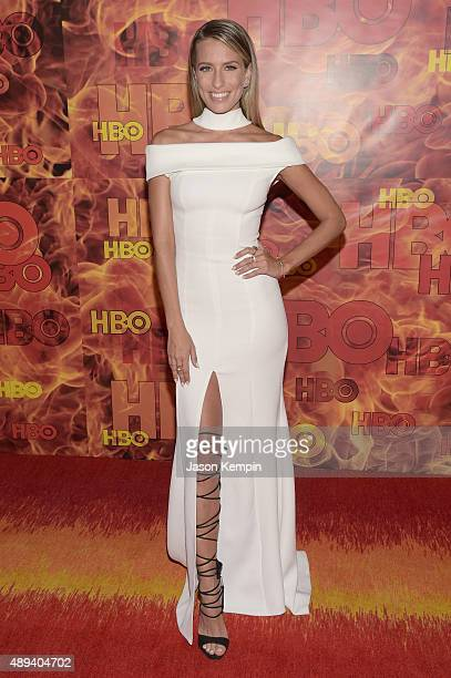 TV personality Renee Bargh attends HBO's Official 2015 Emmy After Party at The Plaza at the Pacific Design Center on September 20 2015 in Los Angeles...