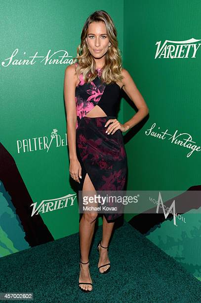 TV personality Renee Bargh attends the 2014 Variety Power of Women presented by Lifetime at Beverly Wilshire Four Seasons on October 10 2014 in Los...