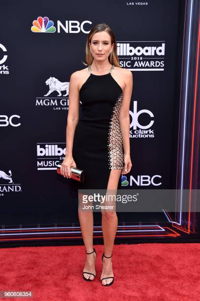TV personality Renee Bargh attends the 2018 Billboard Music Awards at MGM Grand Garden Arena on May 20 2018 in Las Vegas Nevada