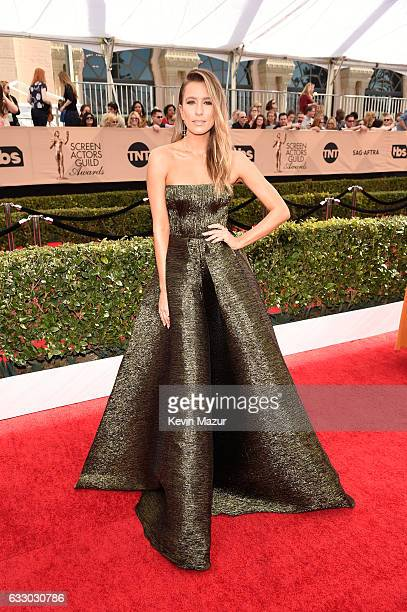 TV personality Renee Bargh attends The 23rd Annual Screen Actors Guild Awards at The Shrine Auditorium on January 29 2017 in Los Angeles California...
