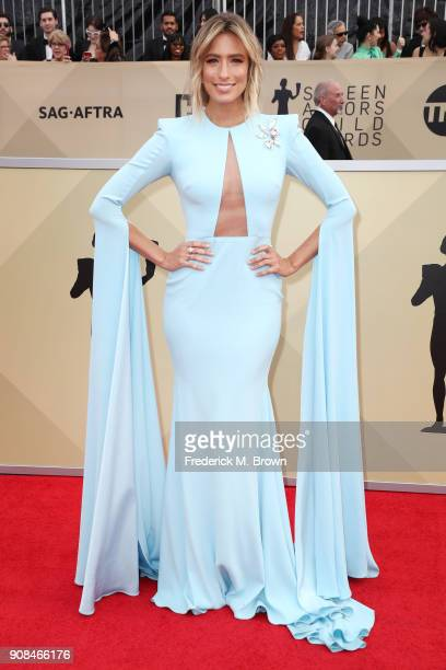 TV personality Renee Bargh attends the 24th Annual Screen Actors Guild Awards at The Shrine Auditorium on January 21 2018 in Los Angeles California...