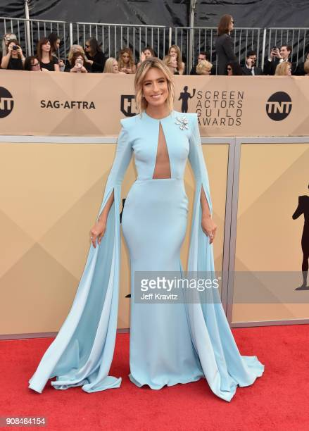 TV personality Renee Bargh attends the 24th Annual Screen Actors Guild Awards at The Shrine Auditorium on January 21 2018 in Los Angeles California