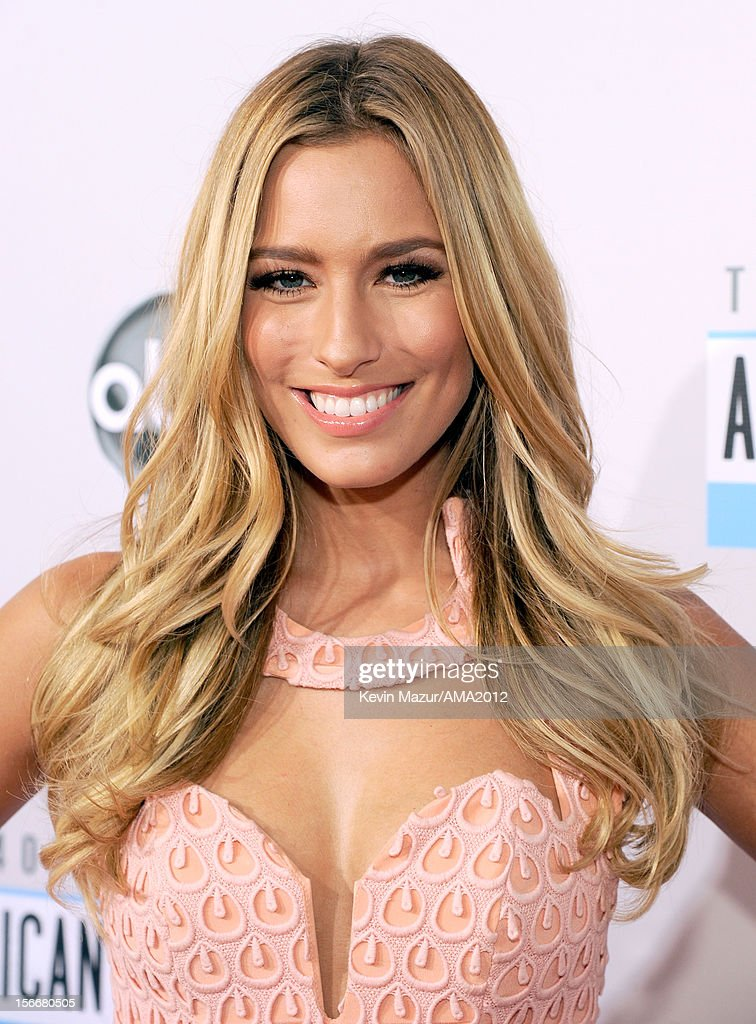 TV personality Renee Bargh attends the 40th American Music Awards held at Nokia Theatre L.A. Live on November 18, 2012 in Los Angeles, California.