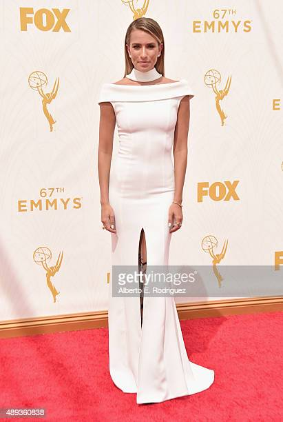 TV personality Renee Bargh attends the 67th Emmy Awards at Microsoft Theater on September 20 2015 in Los Angeles California 25720_001